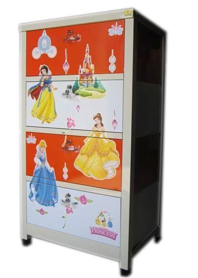 Picture of Tủ trẻ em 3 ngăn - Màu cam