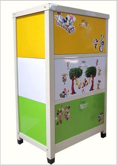 Picture of Tủ trẻ em 3 ngăn - Màu vàng xanh