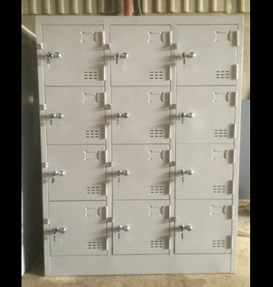 Tủ locker 12 ngăn 3 khoang (tủ đặt theo yêu cầu) - tủ locker văn phòng