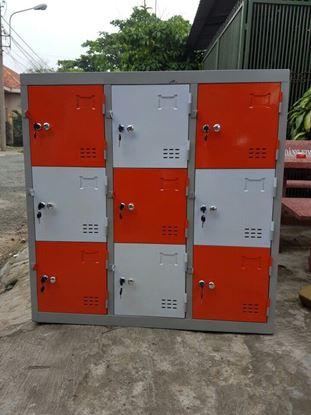 Tủ locker 9 ngăn 3 khoang (tủ theo yêu cầu) - tủ locker sắt