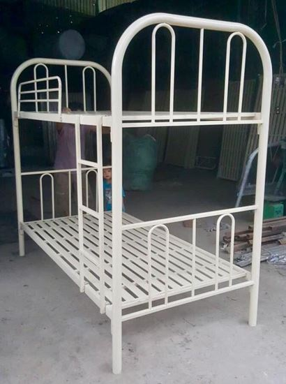 Giường sắt 2 tầng bo góc GST2T - giường tầng KTX