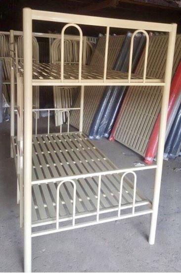 Giường sắt 2 tầng không bo góc GSV2T - giường tầng KTX