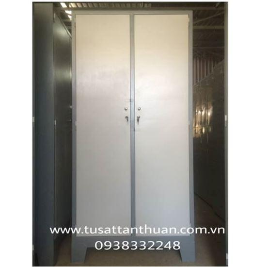 Tủ sắt locker quân đội 2 cánh mở TQD2CM