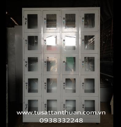 Tủ locker 20 ngăn cánh kính TCK20C4K
