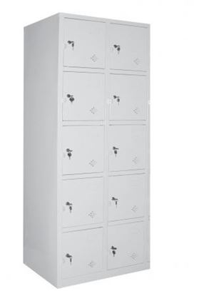Tủ sắt locker đố nổi 10 ngăn 2 khoang TDN10C2K