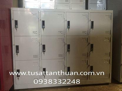 Tủ locker 12 ngăn 4 khoang 12C4K