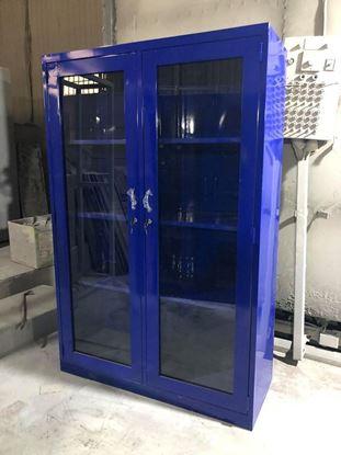 Tủ hồ sơ màu xanh 2 cánh mở kính 2CMKX915