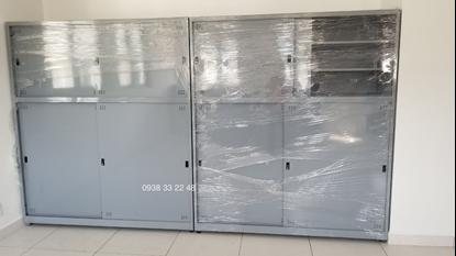 Tủ sắt đựng hồ sơ văn phòng 4 cửa lùa tole TL04T-02
