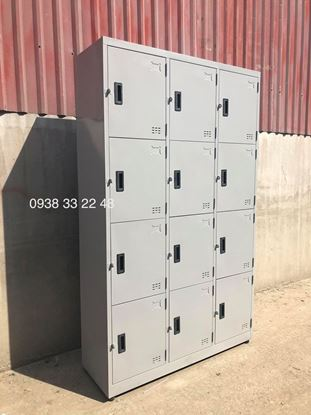 Tủ locker 12 ngăn 3 khoang 12C3K-YC