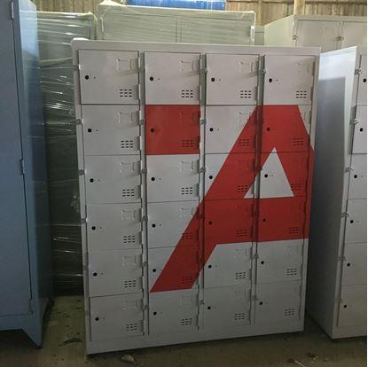Tủ locker 24 ngăn 4 khoang sơn chữ A 24C4K-A